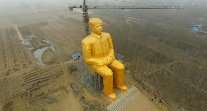 Trump Declares National Emergency: Builds Giant Gold Statue Of Himself