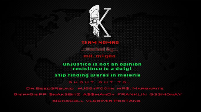 Website Hacked by Russian 13 Year Old Includes Shout Out To vL6d1Mir PooTAng