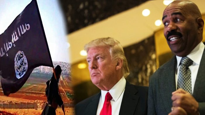 Trump Reveals Secret Plan To Defeat ISIS is Steve Harvey