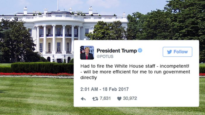 Trump Fires Entire White House Staff, Will Run Government Himself