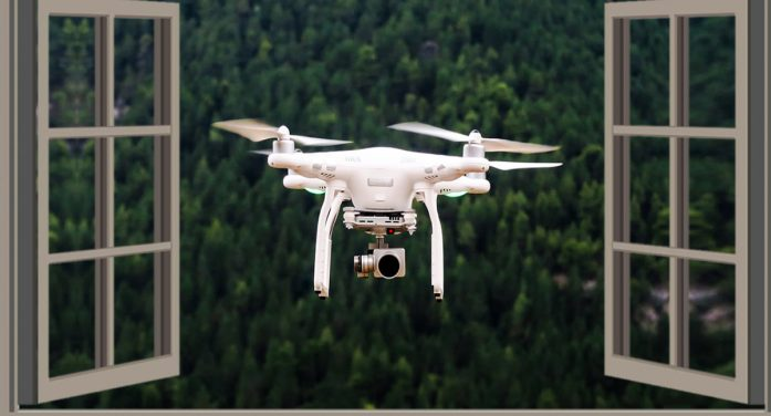 Happy Drone At Your Window Not Looking For Anything In Particular