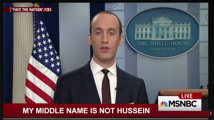 White House Confirms Stephen Miller's Middle Name Not Hussein