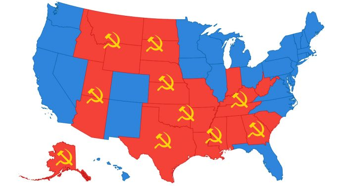 Red States Surprised To Find Out Being Red State Not What They Thought It Was