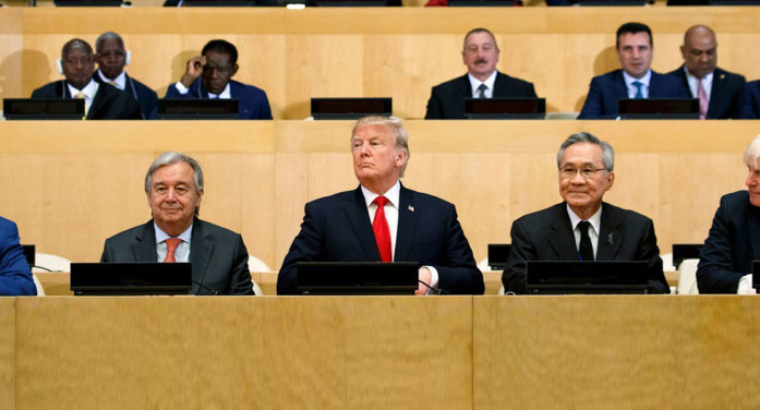 "Trump Addresses UN: ""I Know You People Are Secretly Stealing My Money"""