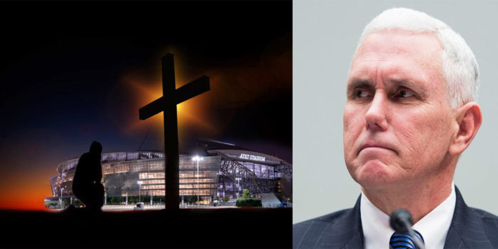 Man Kneels To Pray During National Anthem,  Flummoxes Vice President Pence