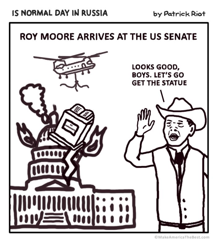 Roy Moore's First Day At The Senate