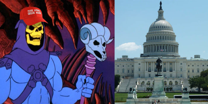 Skeletor Outraged At Democratic Hit Job On His US Senate Campaign