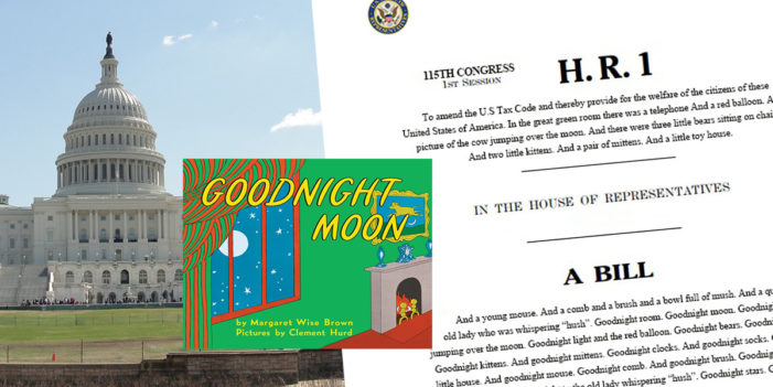House Adds Goodnight Moon To Tax Bill – Lulls Members To Sleep