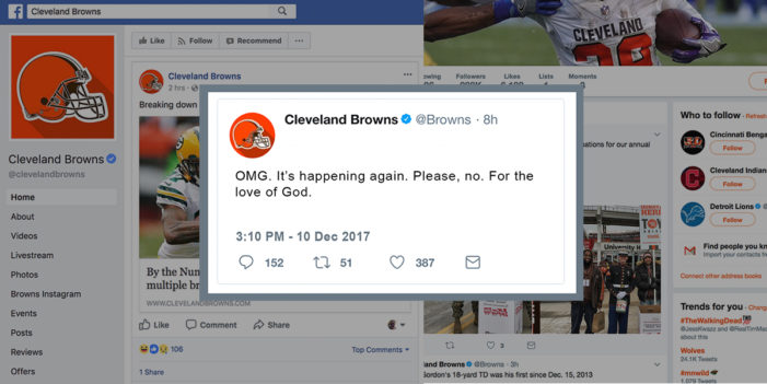 Cleveland Browns Social Media Team Placed On Suicide Watch