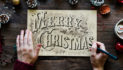 Friend Quits Job To Painstakingly Hand-Letter 1,200 Christmas Cards With Quill Pen