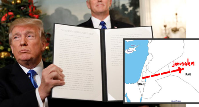 Trump Officially Recognizes Jerusalem As Capital Of Iraq