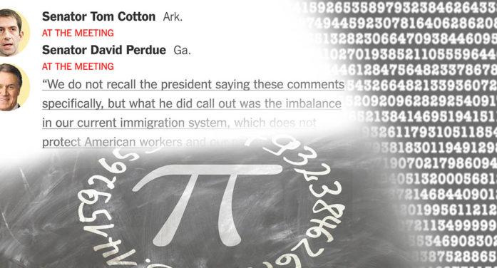 Senators Tom Cotton And David Perdue Enter Pi Memorization Contest