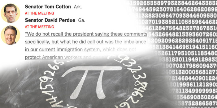 Senators Tom Cotton And David Perdue Enter Pi Memorization Contest