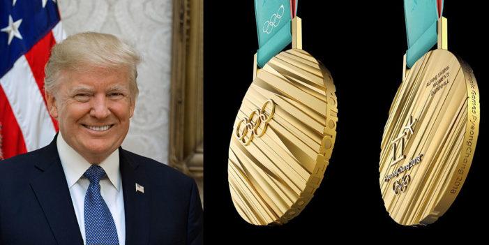 President Trump Demands Gold Medal For Being President