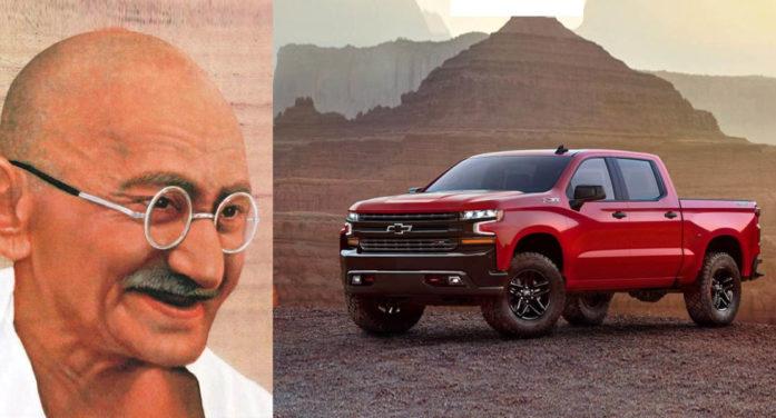 Chevrolet Decides To Pull Mahatma Gandhi Commercial For Silverado