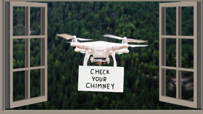 Neighborhood Perv With Drone Alerts You To Dangerous Creosote Buildup In Your Chimney