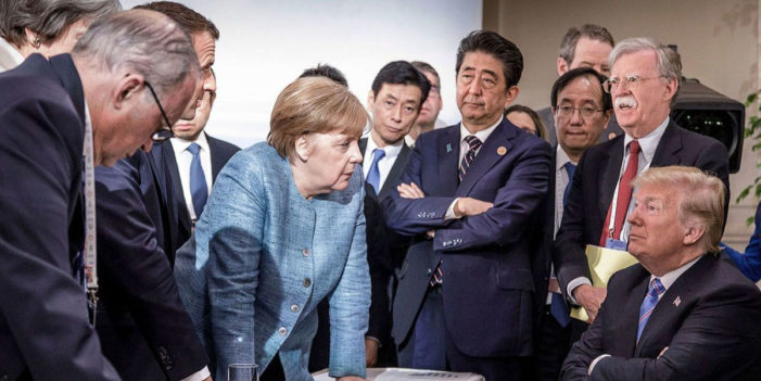 President Unable To Spell His Name On G7 Statement