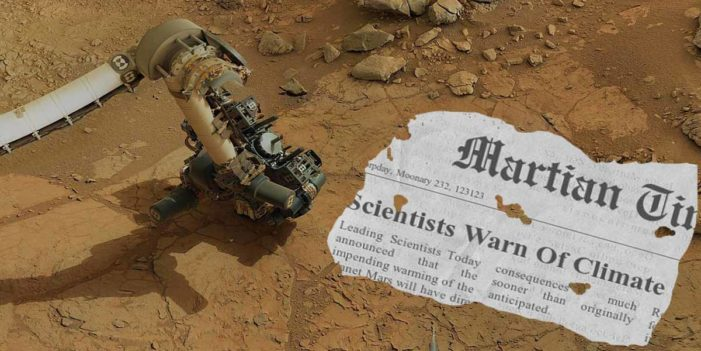 Mars Perseverance Rover Finds Newspaper Warning Of Dire Effects Of Climate Change