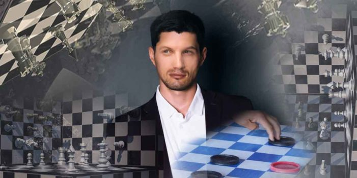 Man Playing 4 Dimensional Chess With God Actually Playing Modified Game Of Checkers
