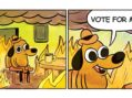 """This Is Fine"" Dog Announces 2020 Run For President"
