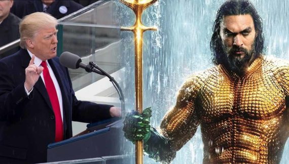 President Trump Calls On Aquaman To End Government Shutdown