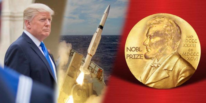 Ebay Scam: Trump Trades US Nuclear Warhead For Fake Nobel Peace Prize