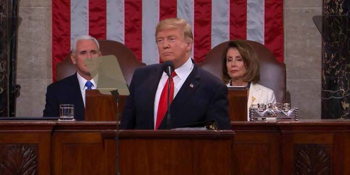 Nation Applauds As Teleprompter Urges National Unity