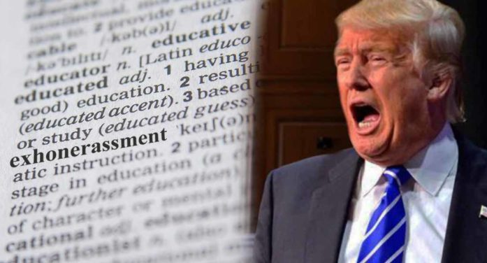 """Webster Announces 2019 Word Of The Year: """"Exhonerassment"""""""