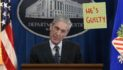 Frantic Robert Mueller Tries To Draw Attention To Sign Behind Him During Press Conference