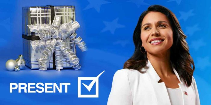 Impeachment Button Mix-up: Tulsi Gabbard Votes For Present