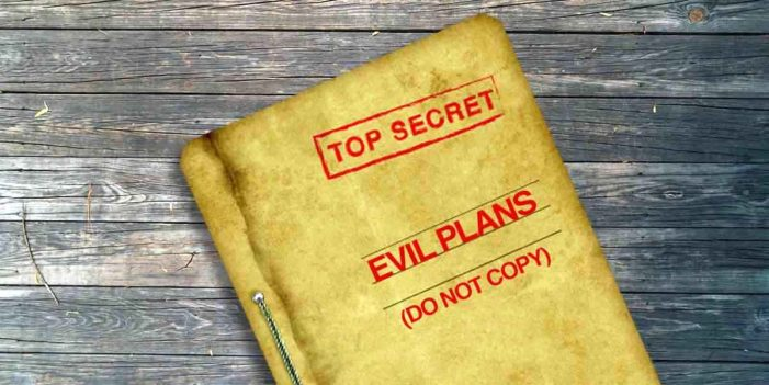 Only Copy Of Evil Plans Destroyed In Missile Attack