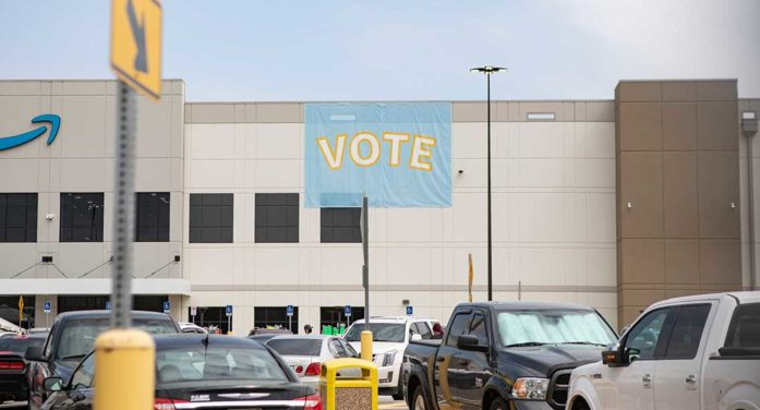 Amazon Says Union Vote Shows Workers Freely Chose Job Over Sicilian Necktie